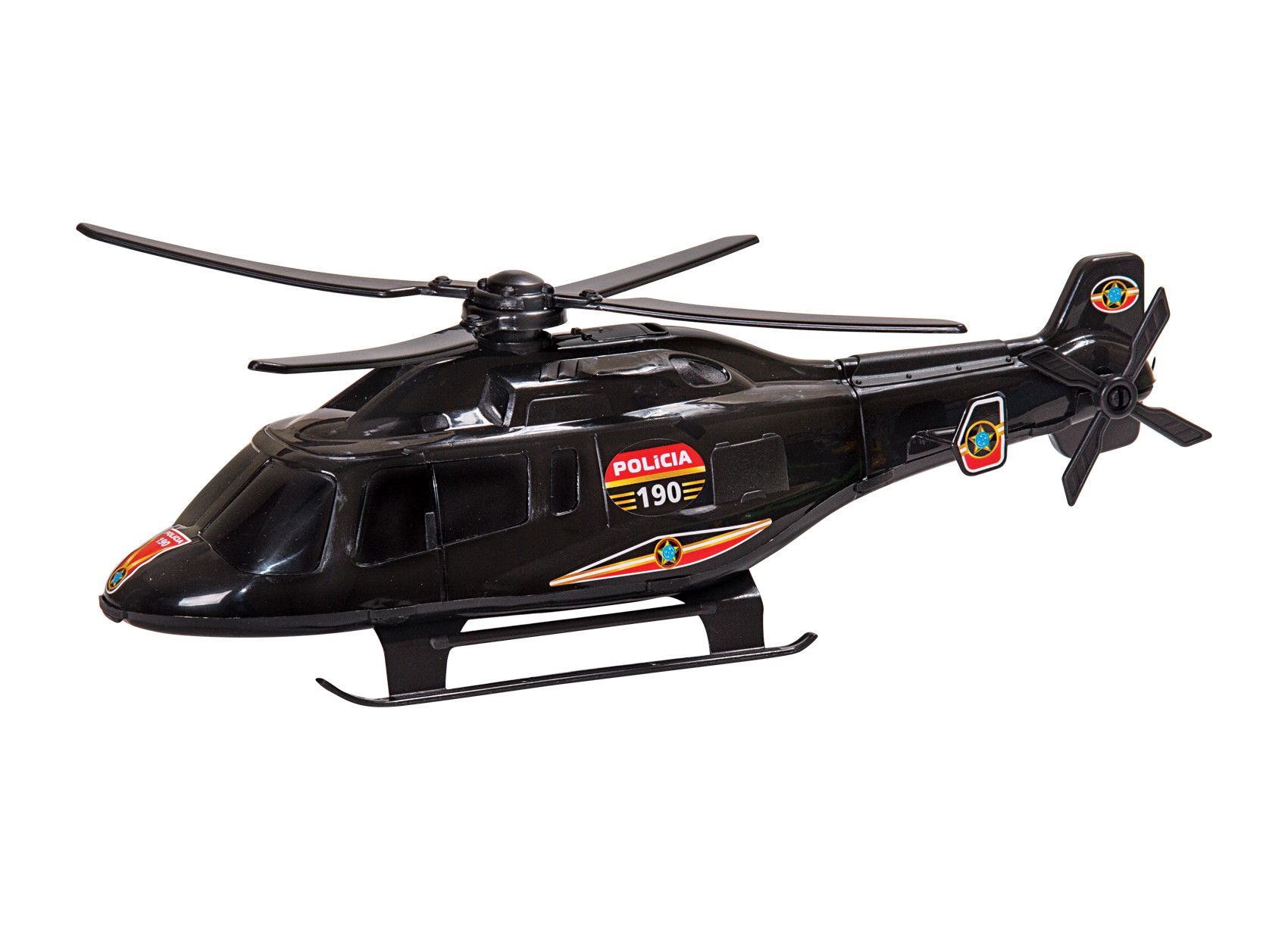 Helicoptero Mini Policia Resgate Bs Toys