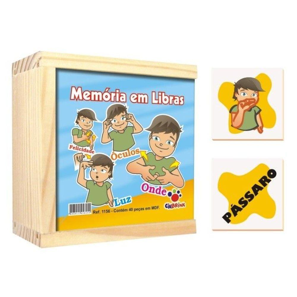 Jogo Da Memoria Libras Cia Brink