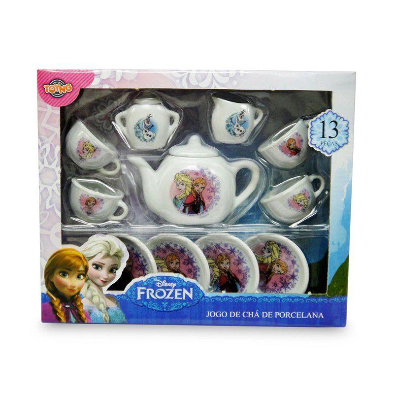 Jogo De Cha Porcelana Frozen Infantil Toyng