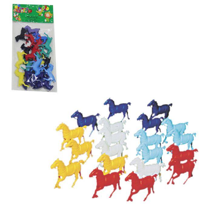Kit De Cavalos De Brinquedo Com 20 Peças Coral