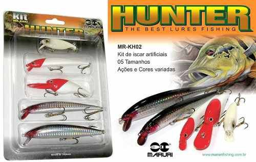 Kit Promocional 5 Iscas Artificiais Hunter Fishing Maruri Mr-Kh02