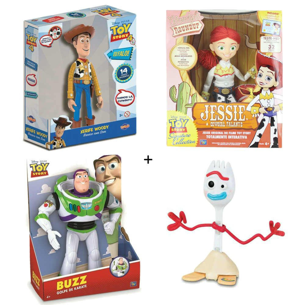 Kit Toy Story Boneco Woody 14 Frases Boneca Jessie 32