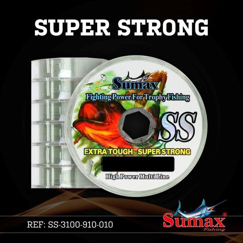 Linha De Pesca 100 Metros 0.30 0.35 0.40 0.45 Super Strong Sumax 0.45mm - 29lbs