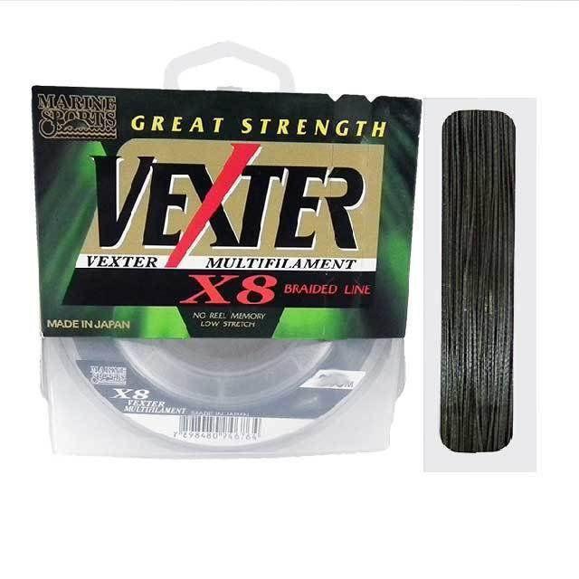 Linha De Pesca Vexter X8 Multifilamento 0,48mm 100lb 250m Marine Sports