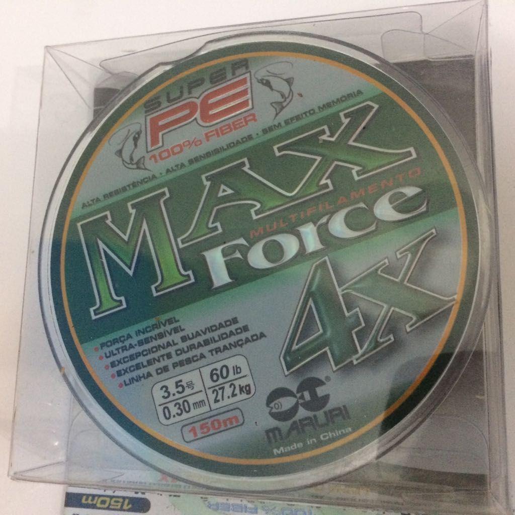 Linha Multifilamento 4x Maruri Max Force 150m 0,30mm 60lb