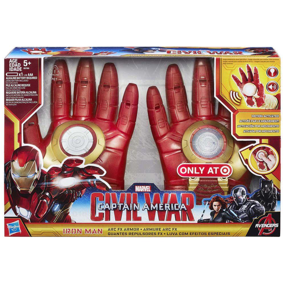 Luvas Homem De Ferro Capitão América Guerra Civil Hasbro