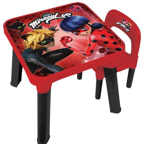 Mesa Com Cadeira Miraculous Ladybug
