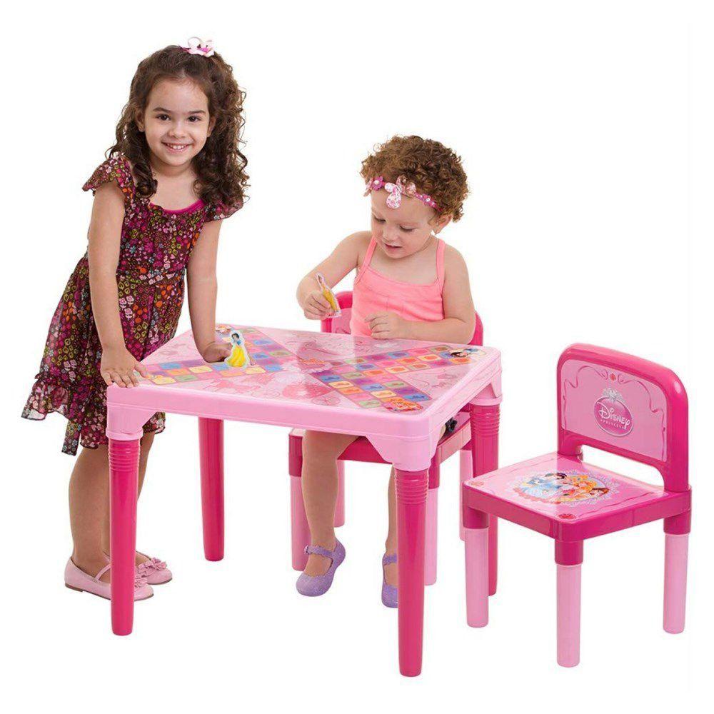 Mesa E Cadeira Tabuleiro Princesas