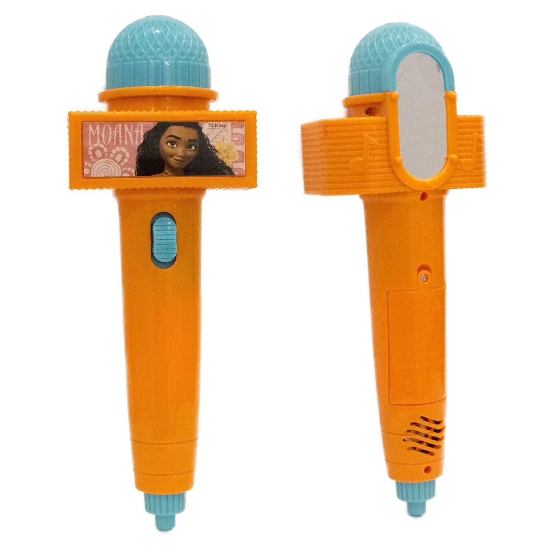 Microfone Moana Com Eco E Luz A Pilha Toyng - Sortidos