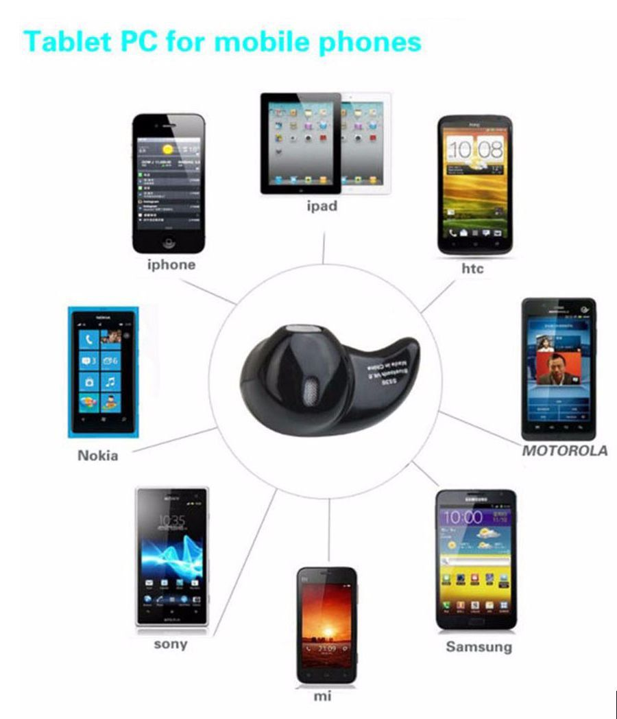 Mini Fone De Ouvido S530 4.1 Sem Fio Bluetooth Micro Branco
