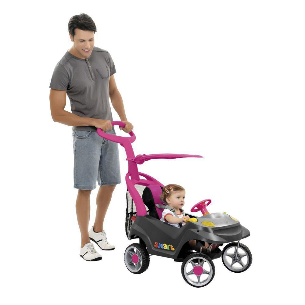 Miniveículo Bandeirante Smart Baby Comfort 521 Rosa E Grafite
