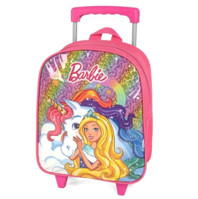 Mochila Carrinho Barbie 33832 Pink Luxcel