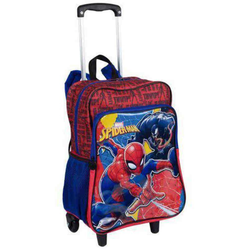 Mochila Carrinho Grande Com Bolso 2 Em 1 Spiderman 19m Plus Sestini