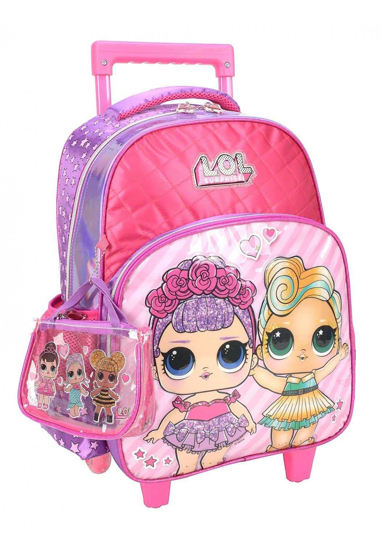 Mochila Carrinho Lol Pink Com Bolsa Extra Inclusa Luxcel