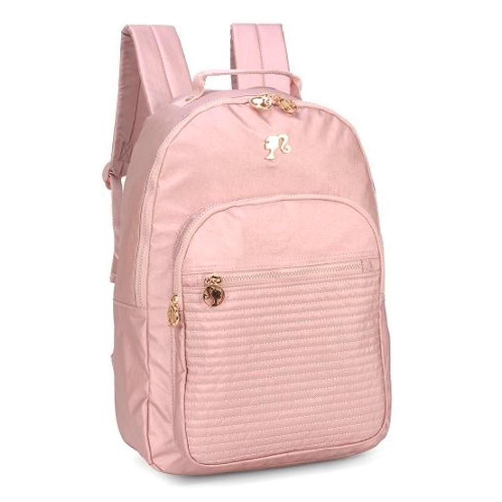 Mochila Costa Notebook Barbie 48726 Rosa Gold Luxcel