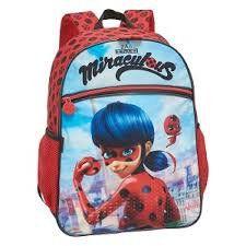 Mochila De Costas Pacific G Miraculous Ladybug Ii Azul/Vermelha