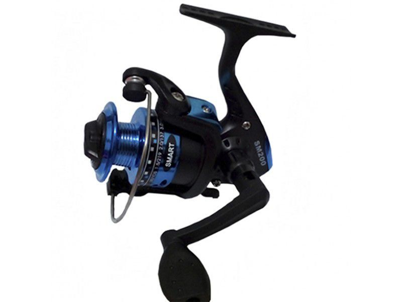 Molinete Smart 200 Rolamentado Pesca Leve Cores Maruri Azul