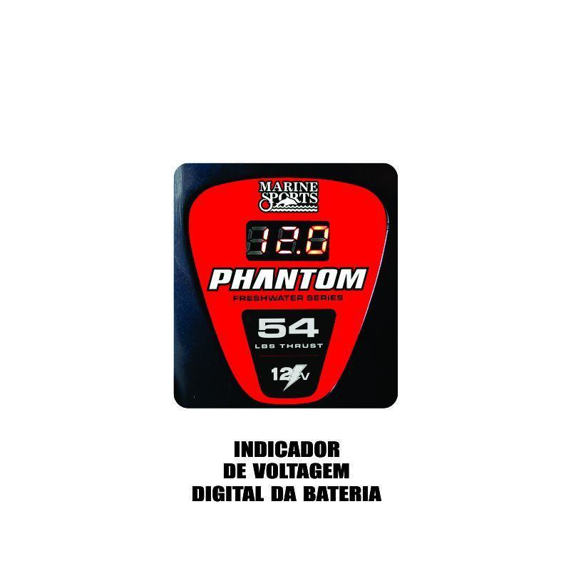 Motor Eletrico Para Barco Lancha Phantom 44 Lb 1,5 Hps Agua Doce Marine Sports