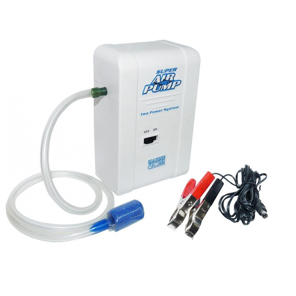 Oxigenador Marine Sports Super Air Pump Ms-Sap Branco 12v