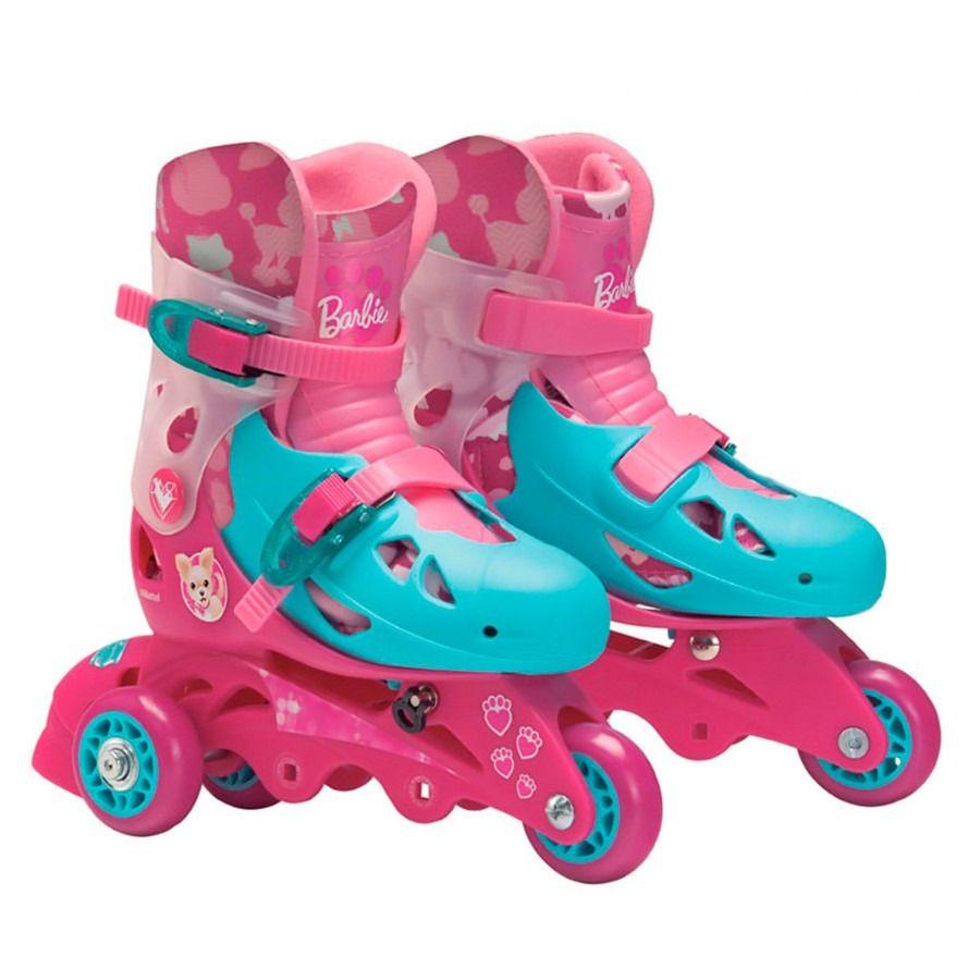 Patins 3 Rodas 29 A 32 Barbie Fun