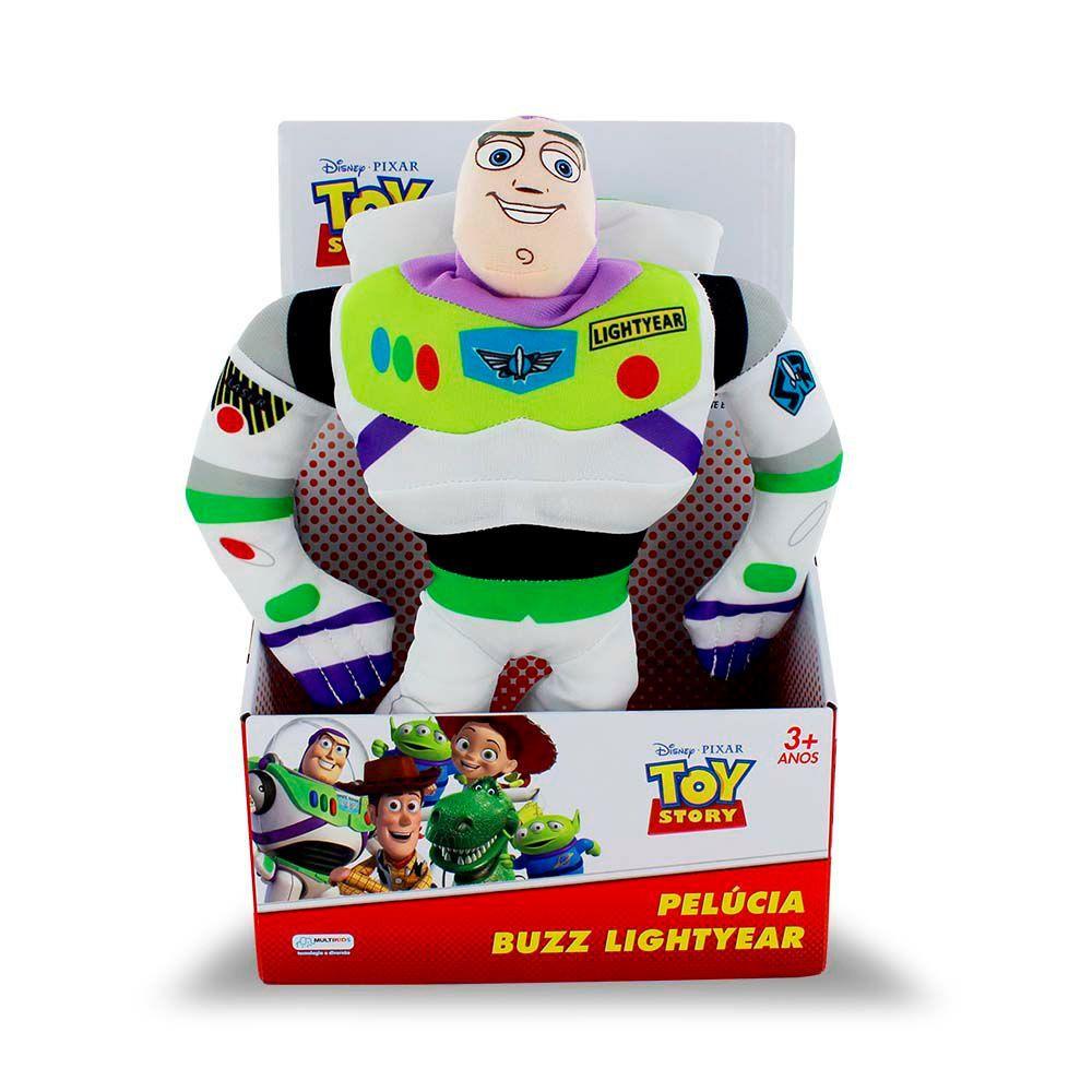 Pelucia Toy Story 30cm Buzz Lightyear Com Som Multikids