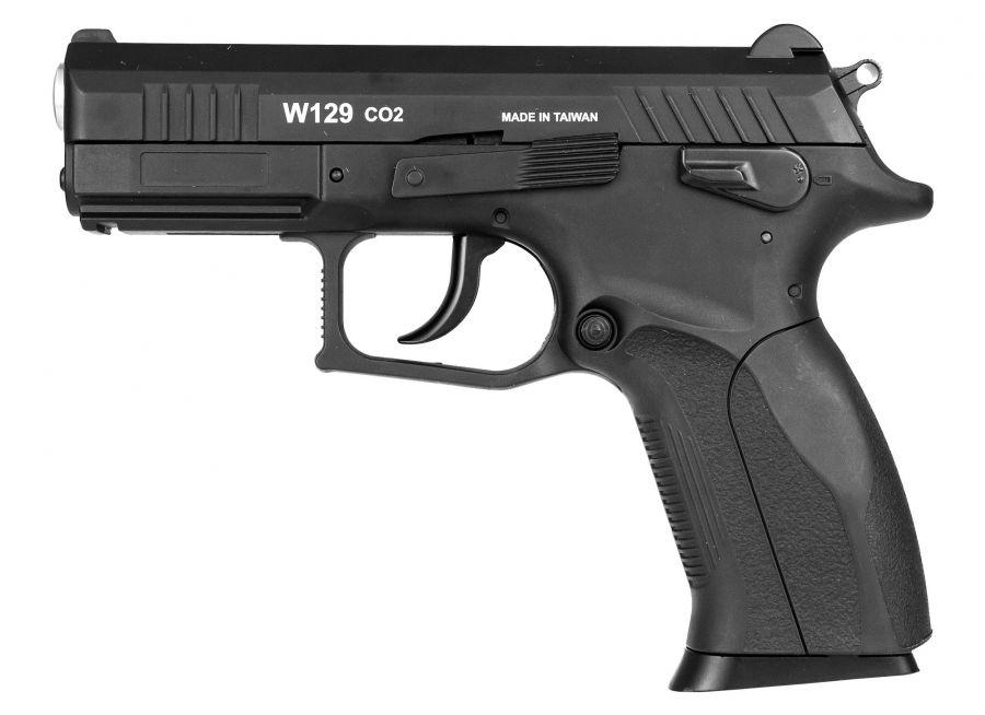 Pistola Arguns 4,5mm Wingun W129 Slide Metal Co2 Rossi