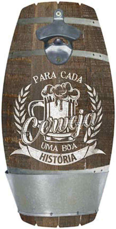 Placa Mdf 16x32cm Com Abridor Para Cada Cerveja Uma Boa Historia Litoarte