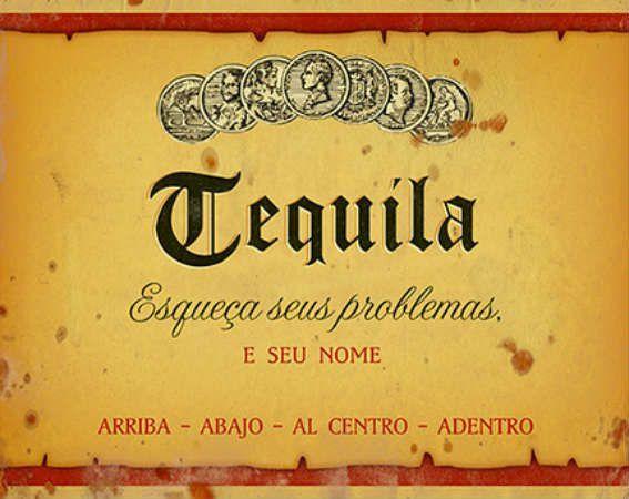 Placa Mdf 19x24cm Tequila Litoarte
