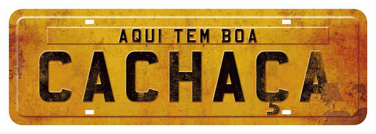 Placa Mdf 35x15cm Aqui Tem Boa Cachaça Litoarte