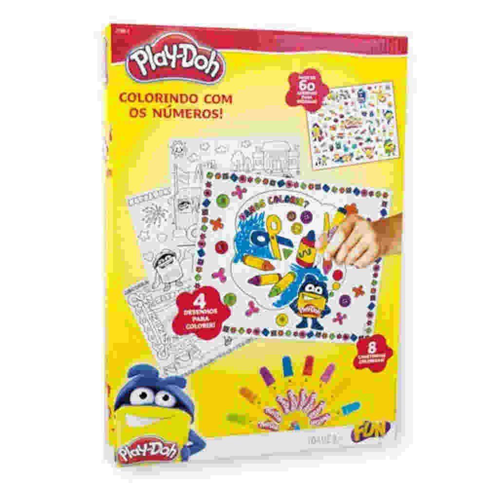 Play Doh Colorindo Com Numeros E Decore Com Adesivos Hasbro