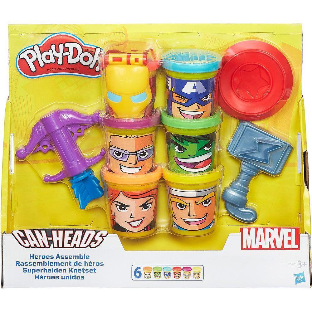 Play Doh Massa De Modelar Marvel Kit Avengers Hasbro