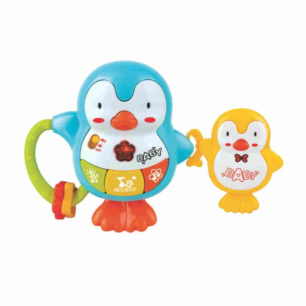 Pura Diversao Chocalho Pinguins Amiguinhos Com Som E Luz Yes Toys