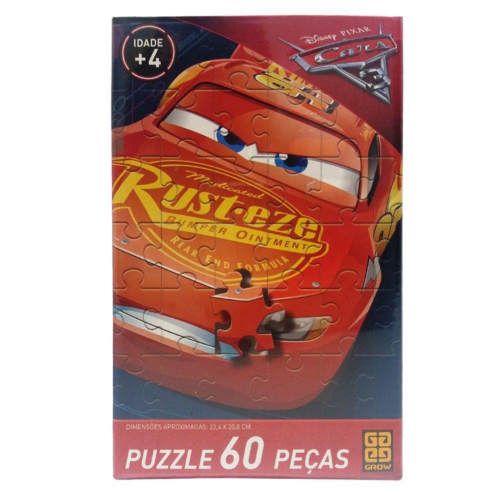 Puzzle 60 Peças Carros Grow