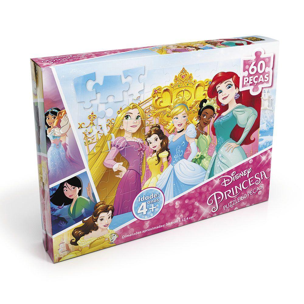 Puzzle 60 Peças Princesas Grow