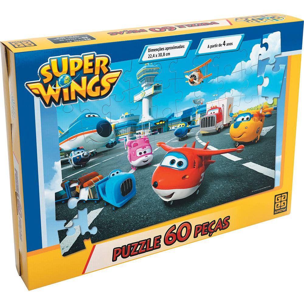Quebra Cabeça Super Wings 60 Peças Grow