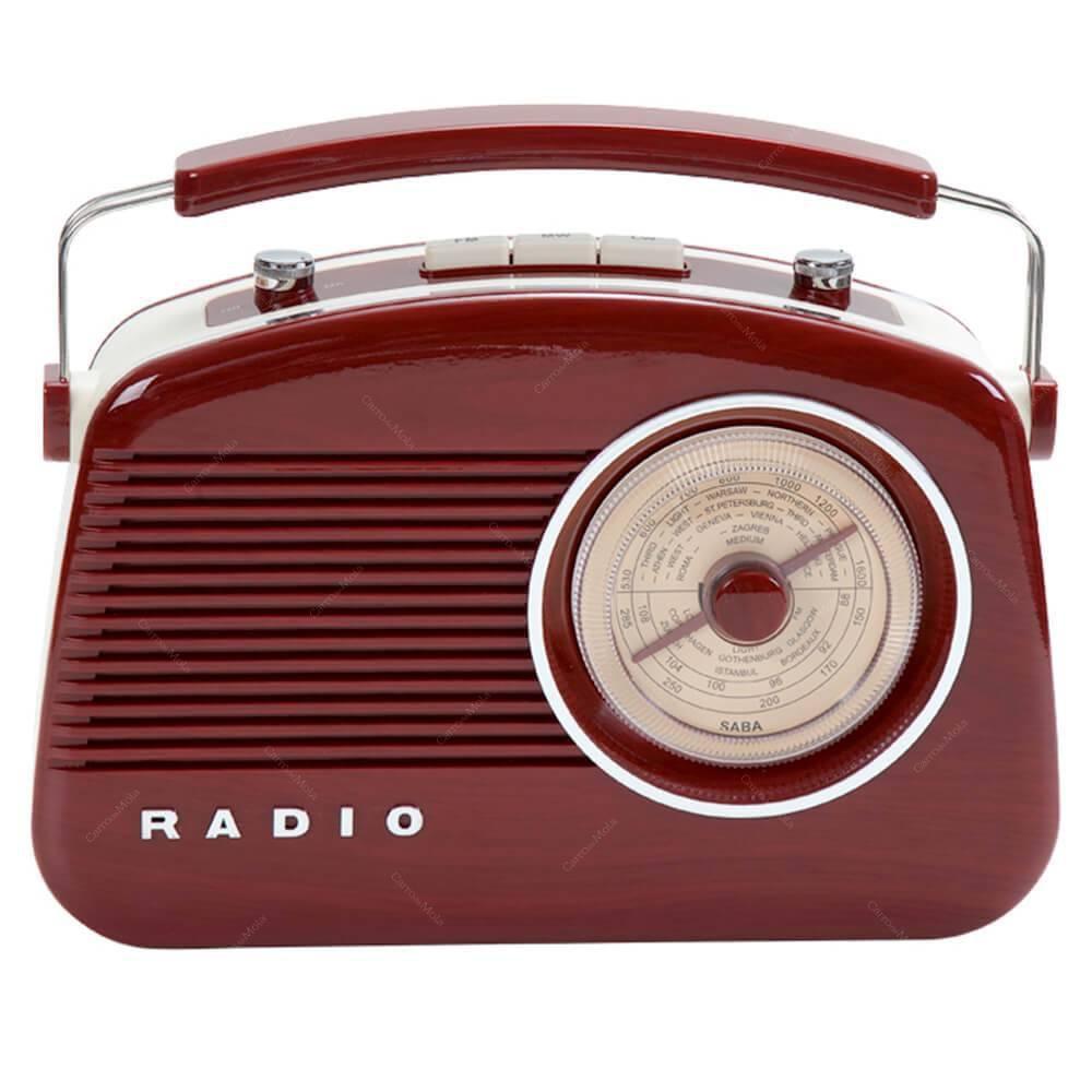 Radio Plastico De Mesa AM/FM Retro Vermelho Urban