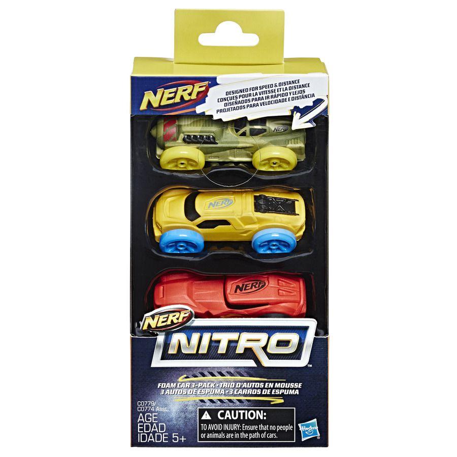 Refil Hasbro Carro Nerf Nitro Laranja/Cinza/Azul