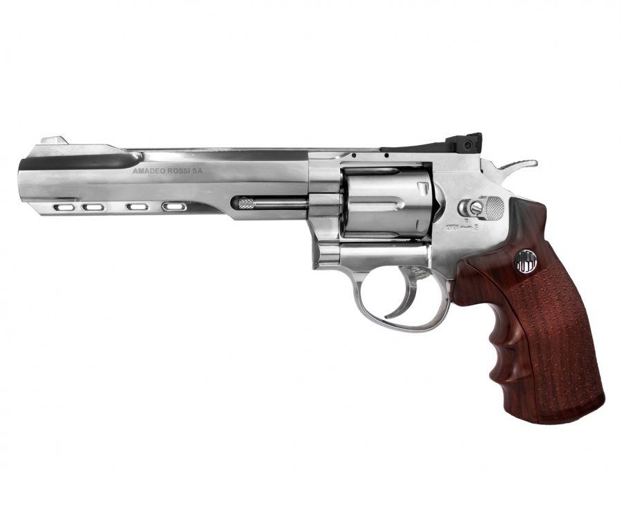 Revolver Pressao Co2 4,5mm Wingun Niquelado Rossi