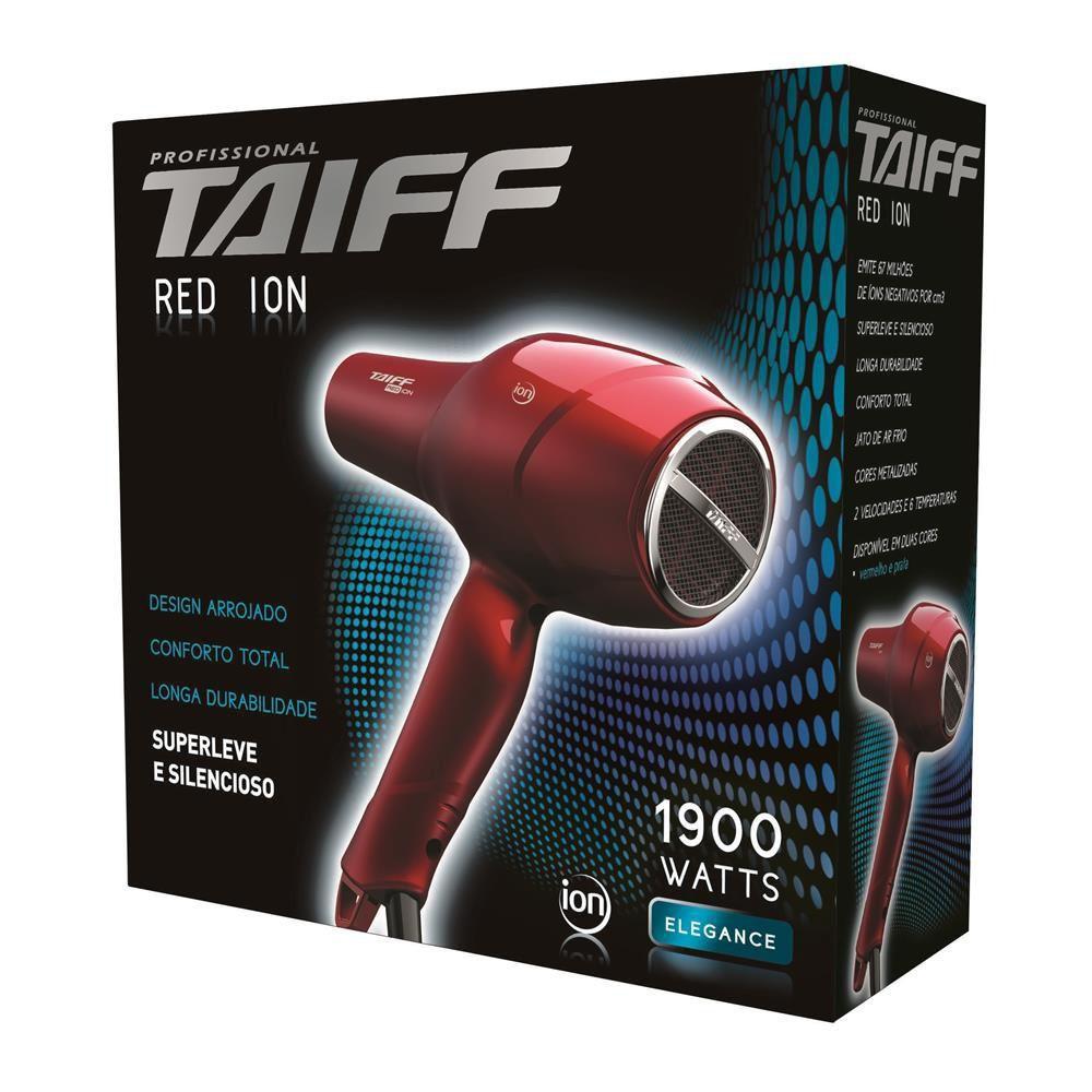 Secador De Cabelo Profissional Red Ion 1900w Vermelho Taiff