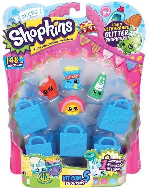 Shopkins Blister Com 5 Dtc - Sortidos