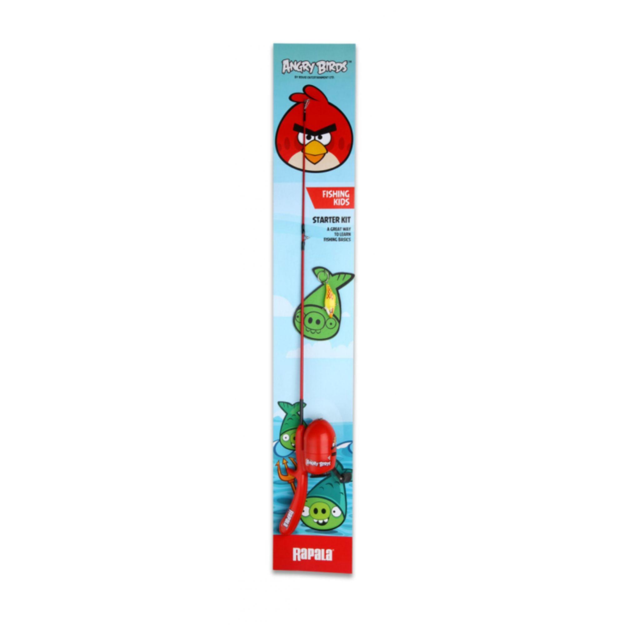 Vara De Pesca Combo Spincast Angry Birds Ab Kc Vermelha Rapala