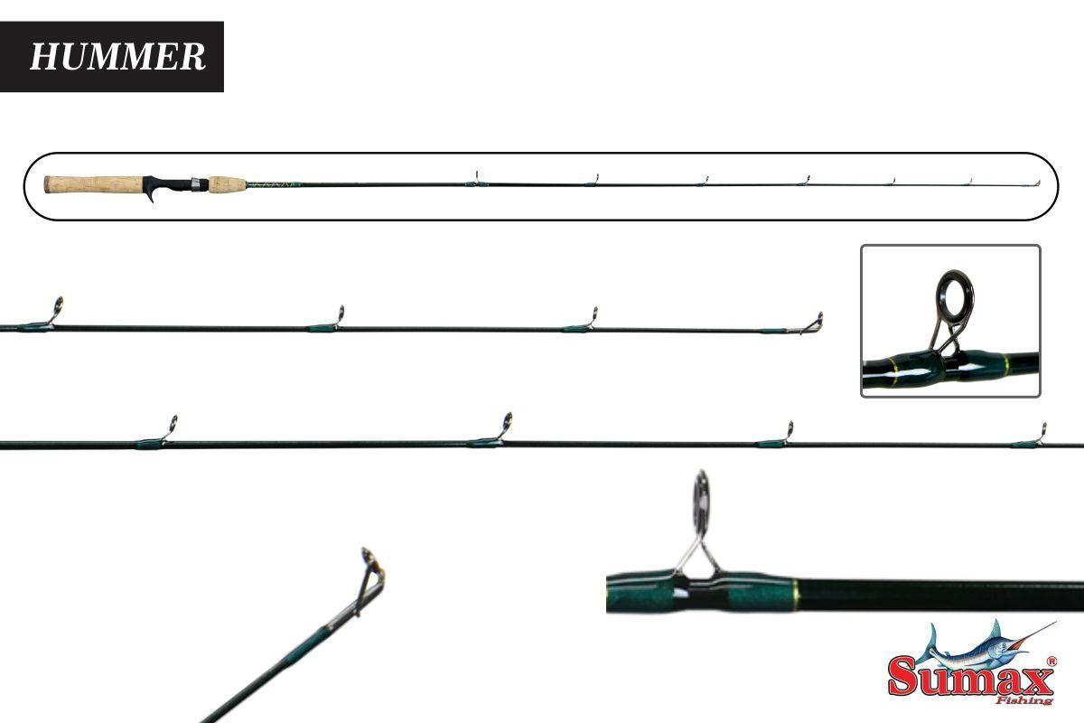 Vara De Pesca Hummer Carretilha Shm-531ml 6-12 Lbs Sumax