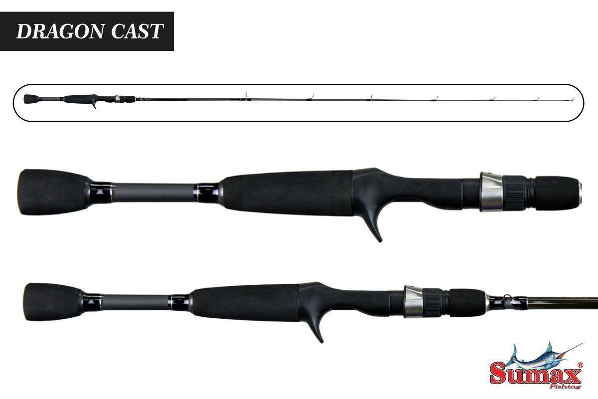 Vara Sumax Dragon Cast Sdg-561m 8 - 14 Lbs Inteiriça 1,68m
