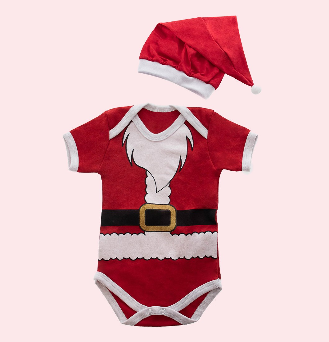 Boby Infantil Temático Papai Noel com Gorro