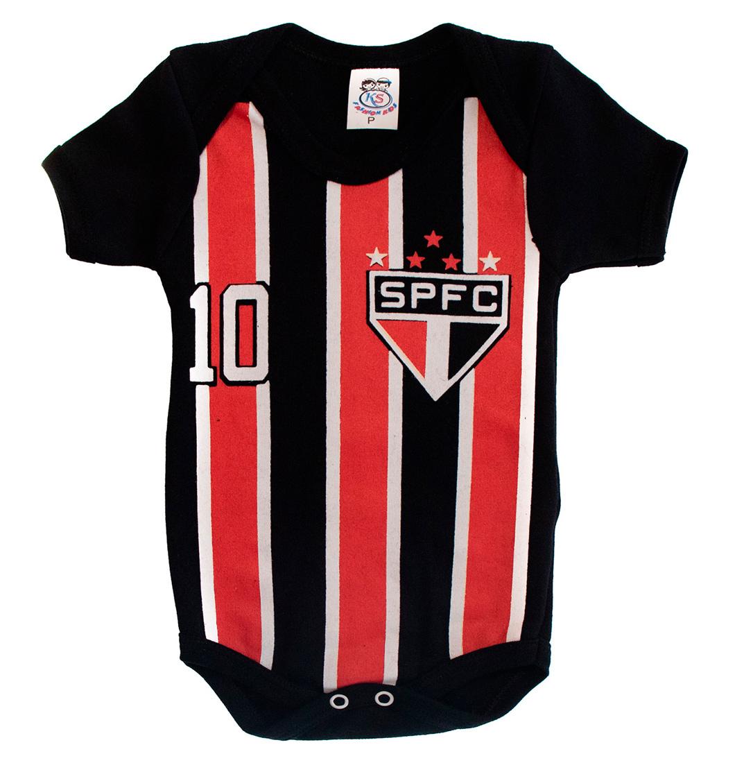 Body De Bebê Menino Time São Paulo