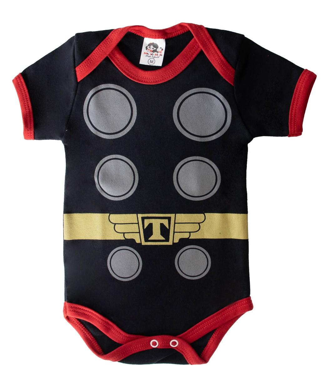 Body Infantil Personagem Thor