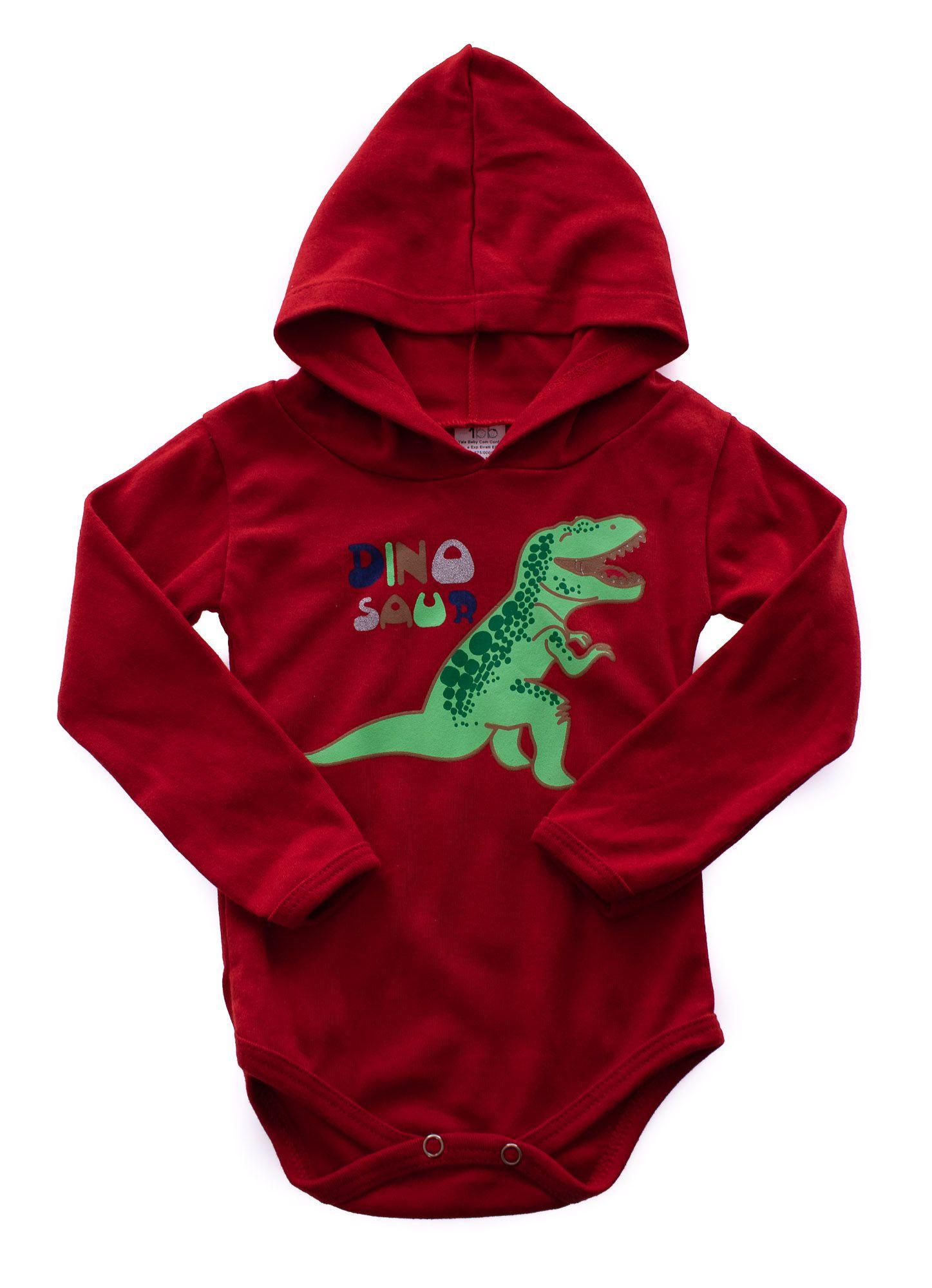 Body Manga Longa Dinossauro