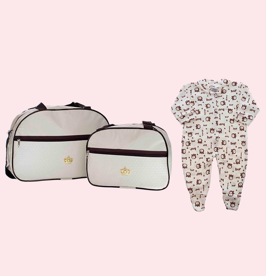 Kit Bolsa Maternidade Com Body Brinde