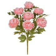 Buquê Artificial de Peônia Salmom - Flor Arte