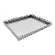 Bandeja para lavabo metal com espelho - Mimo Style